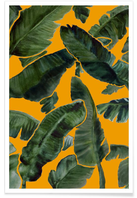 Leaves & Plants, The Vacation Orange Poster