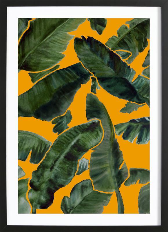 The Vacation Orange Framed Print