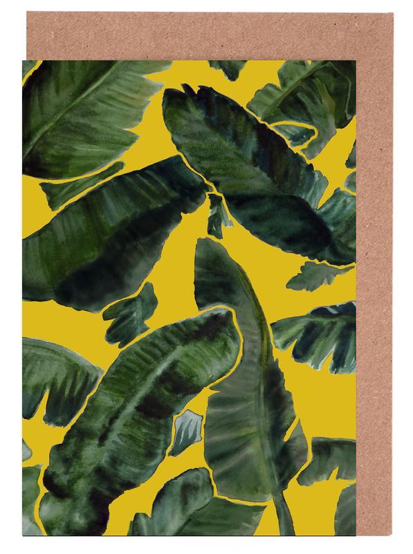 Blätter & Pflanzen, The Vacation Yellow -Grußkarten-Set