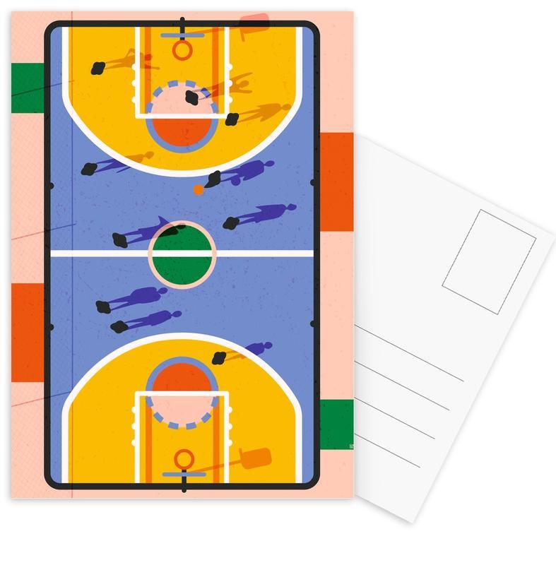 Basketball, Kinderzimmer & Kunst für Kinder, Hoops -Postkartenset