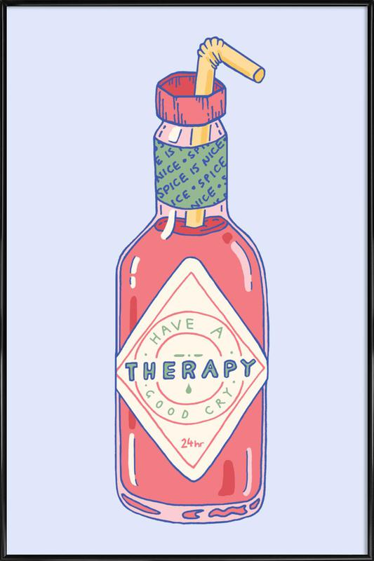 Hot Sauce Therapy Framed Poster