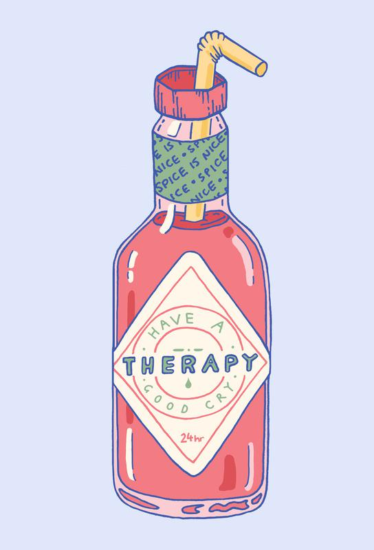 Hot Sauce Therapy -Alubild