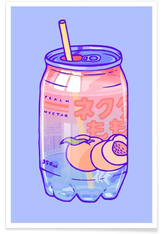 , Peach Bubbles Poster