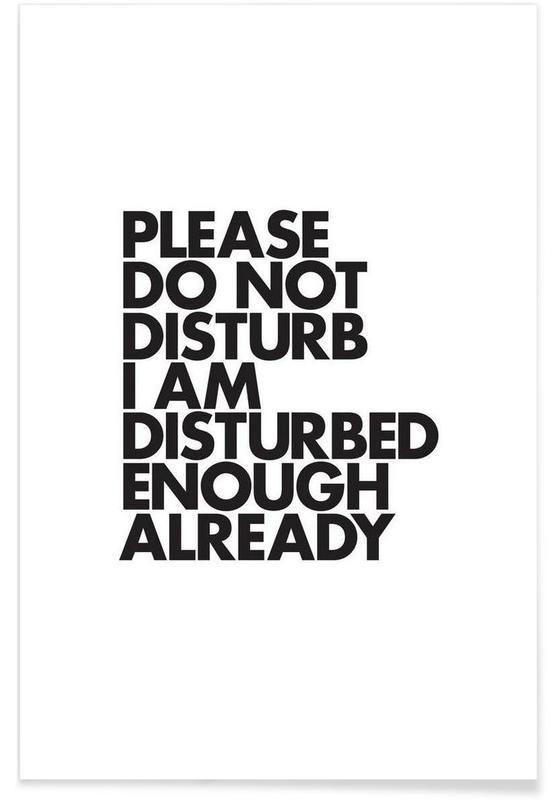 Noir & blanc, Humour, Citations et slogans, Do Not Disturb affiche