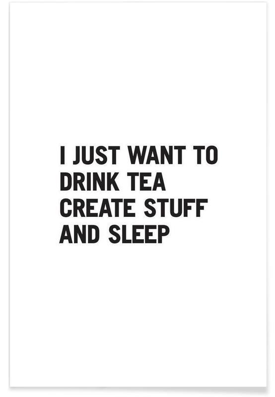 Tea Create Sleep affiche