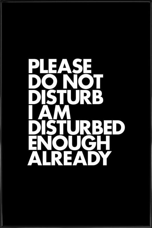 Do Not Disturb White ingelijste poster