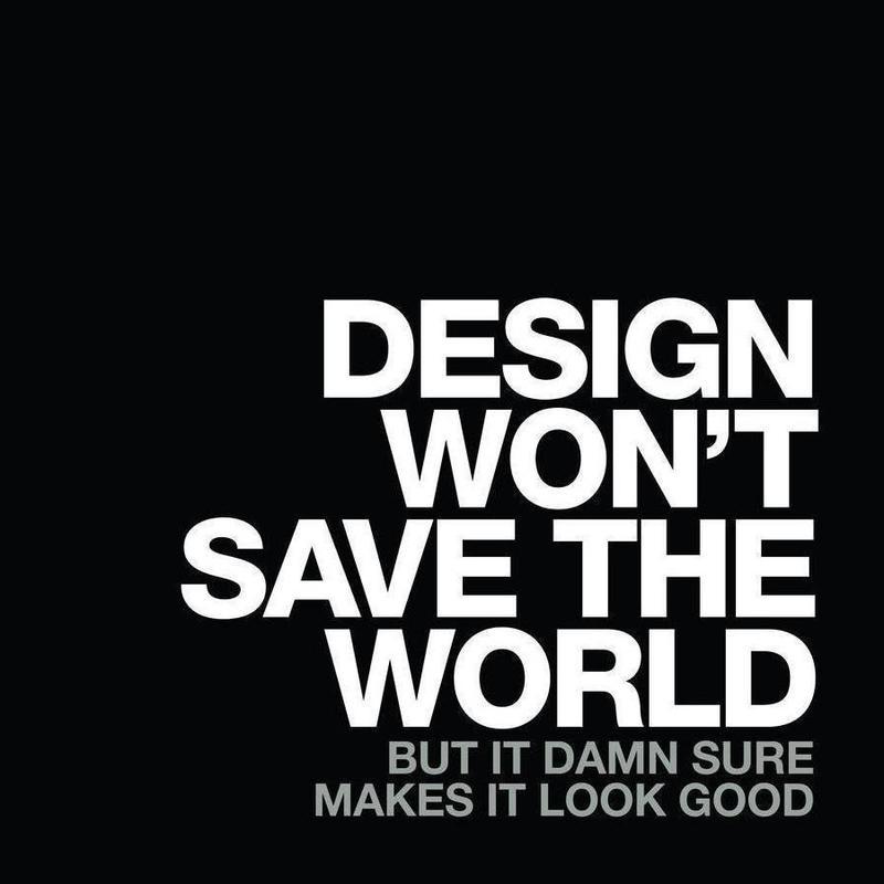 Design Won't Save White Canvas Print
