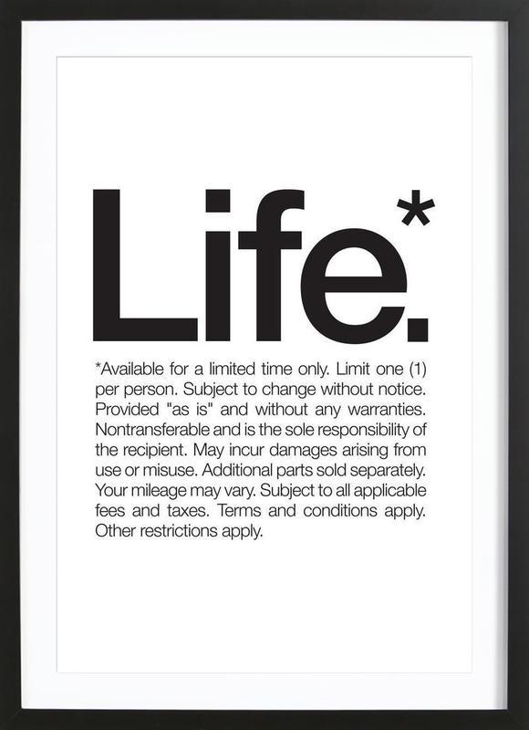 Life* (Black) Framed Print