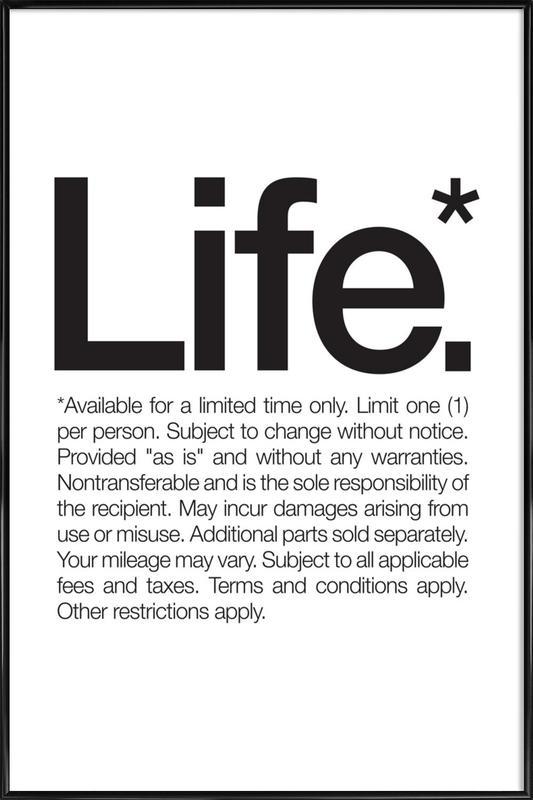 Life* (Black) affiche encadrée
