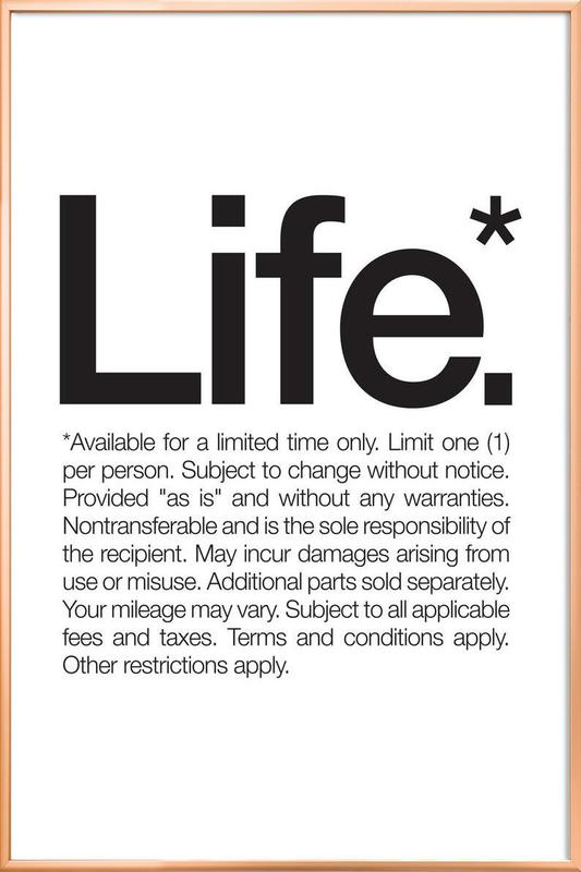 Life* (Black) -Poster im Alurahmen