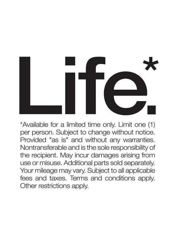 Life* (Black) -Leinwandbild