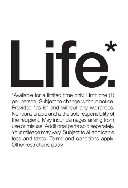 Life* (Black) -Acrylglasbild