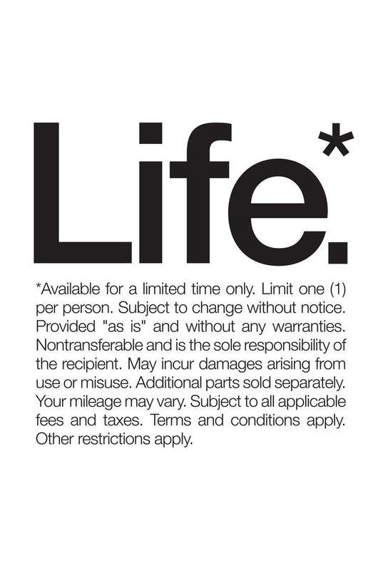 Life* (Black) Aluminium Print