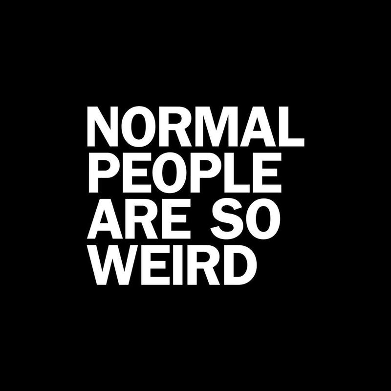 Normal So Weird White Acrylic Print