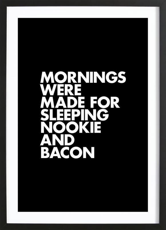 Sleeping Nookie Bacon White Framed Print