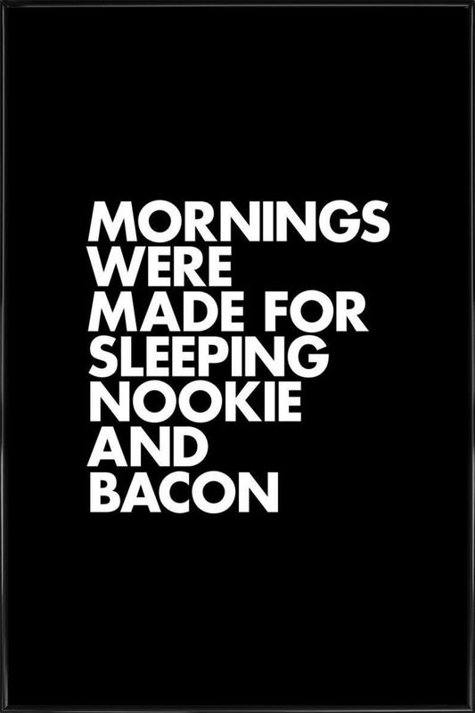 Sleeping Nookie Bacon White Framed Poster