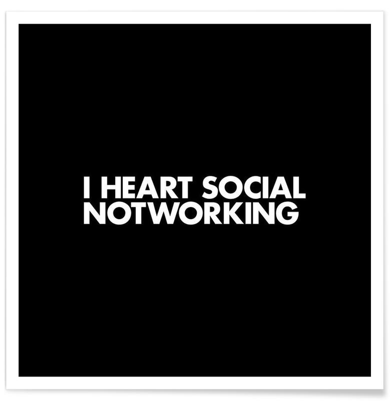 Social Notworking White Poster