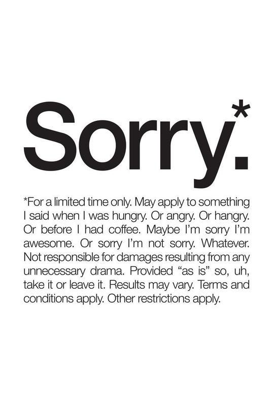 Sorry* (Black) Acrylic Print