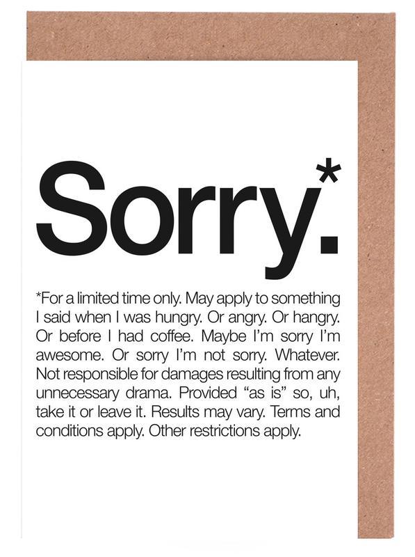 Sorry* (Black) -Grußkarten-Set