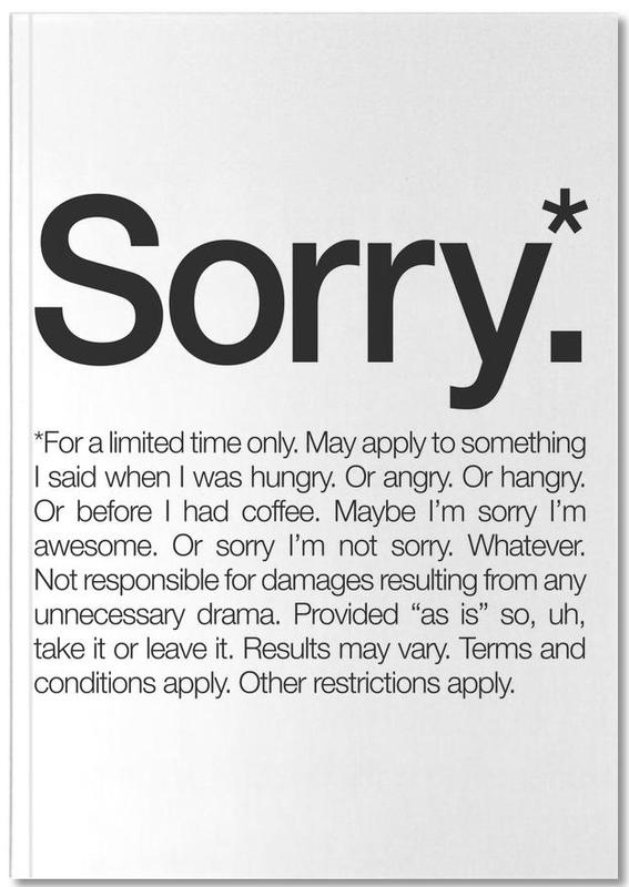 Sorry* (Black) Notebook