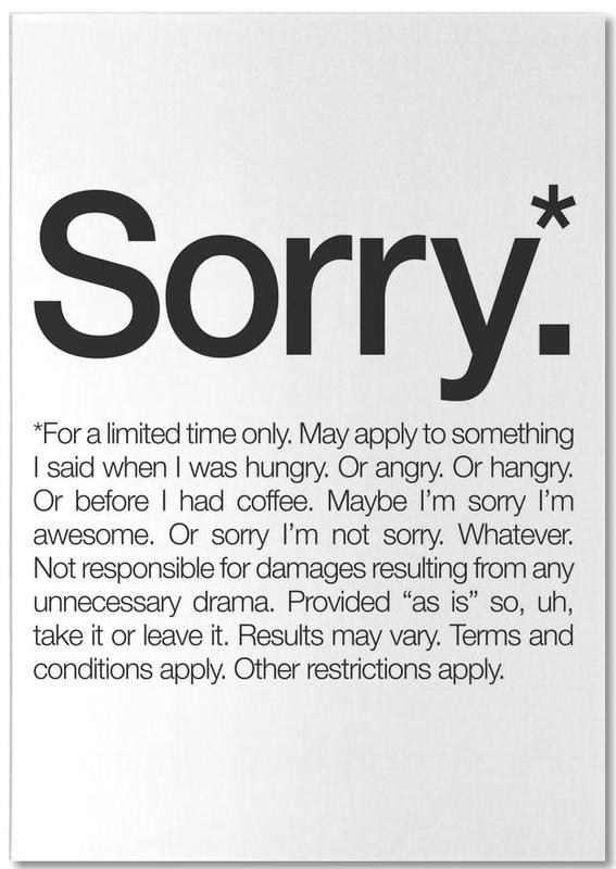 Sorry* (Black) Notepad