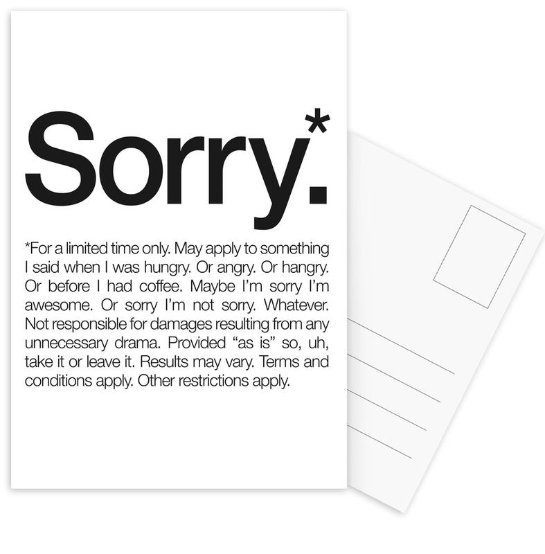 Sorry* (Black) cartes postales