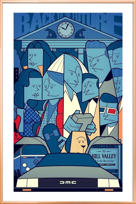 Back to the future -Poster im Alurahmen