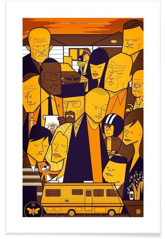 Séries TV, I'm the one who knocks - yellow version affiche