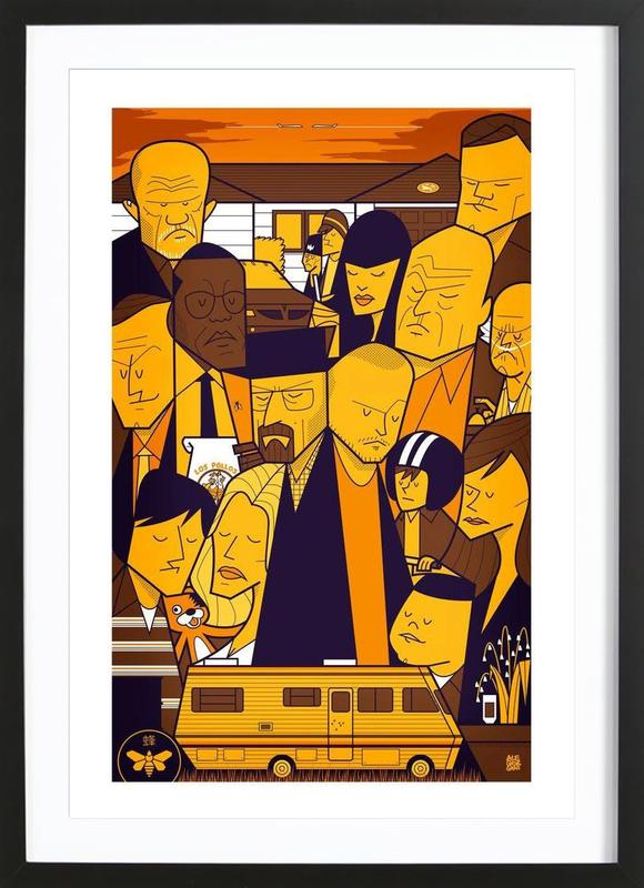 I'm the one who knocks - yellow version Framed Print