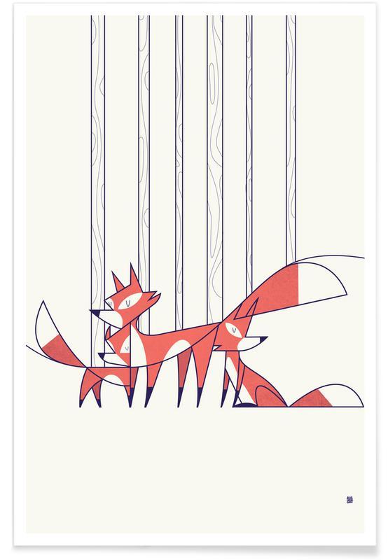 Renards, Foxes affiche