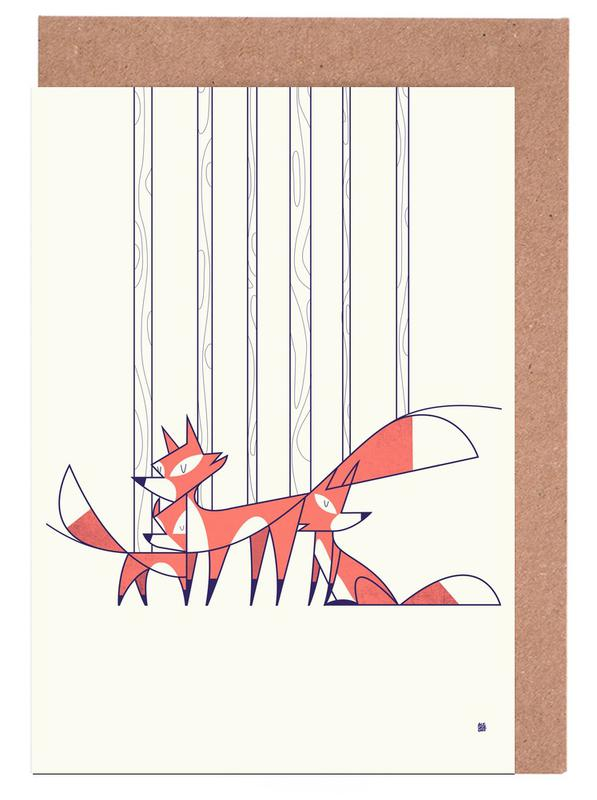 Foxes Greeting Card Set