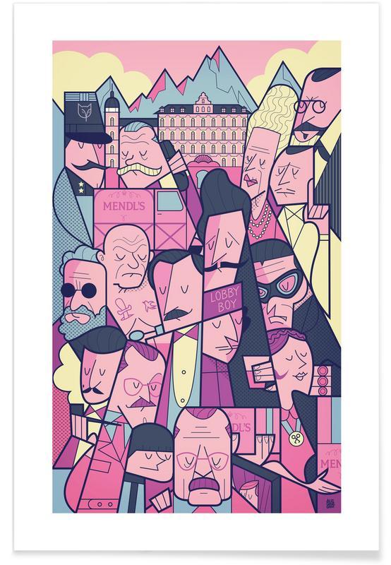 Grand Budapest Hotel -Poster