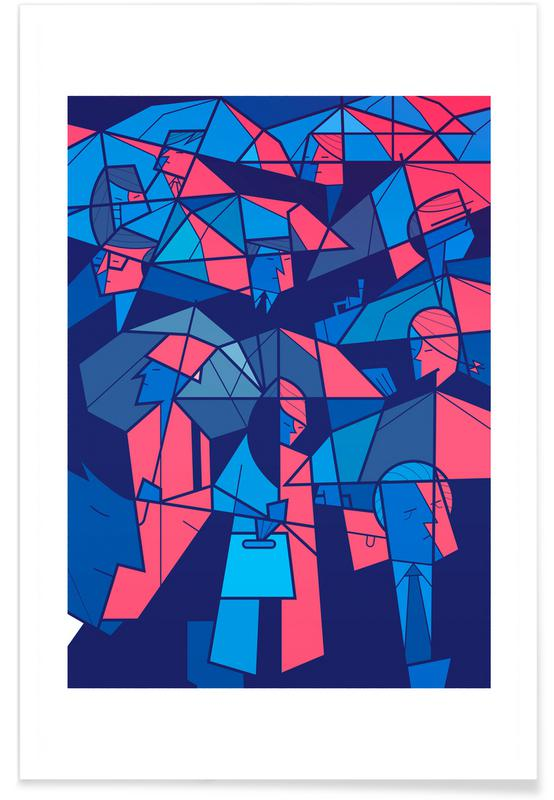Tokyo, Tokyo Frames Rain Poster