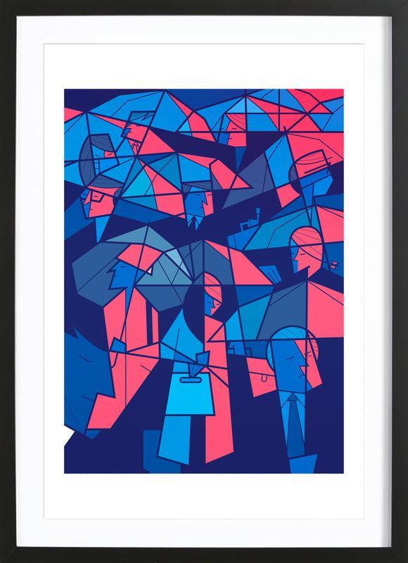 Tokyo Frames Rain Poster Juniqe