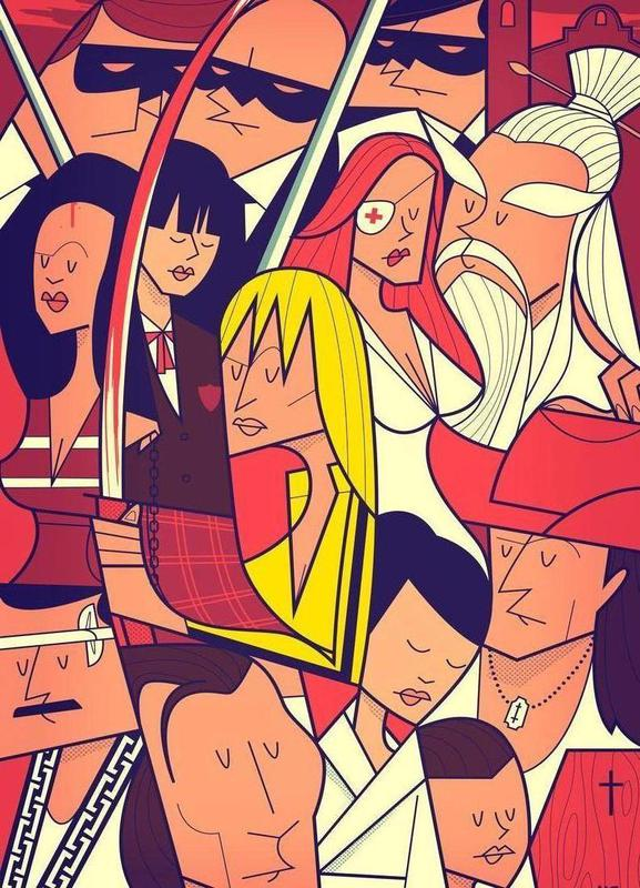 Hattori Hanzo canvas doek