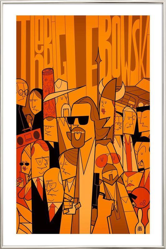 The Dude -Poster im Alurahmen