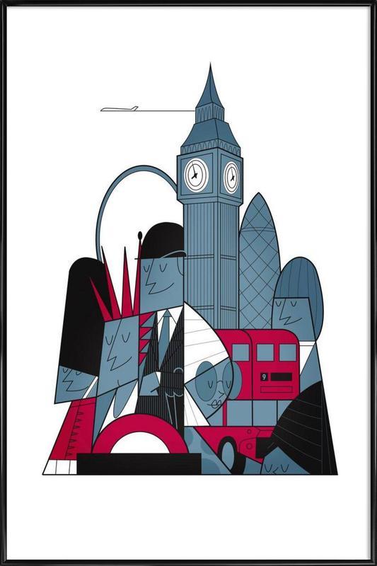 London ingelijste poster