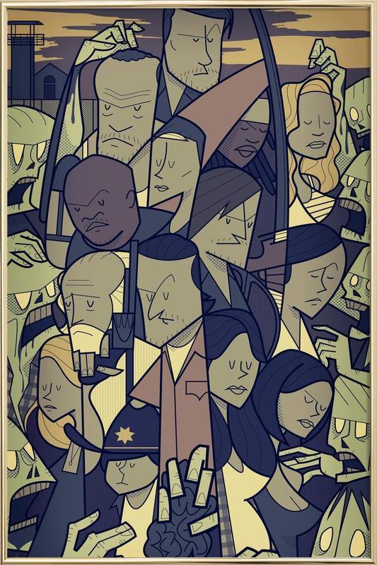 The Walking Dead -Poster im Alurahmen