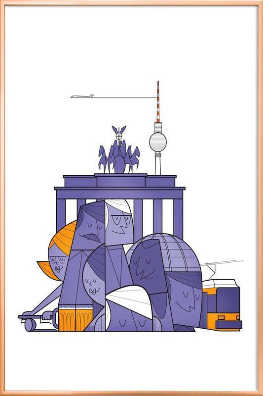 Berlin -Poster im Alurahmen