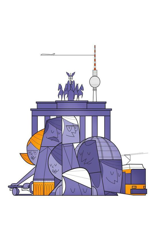 Berlin acrylglas print