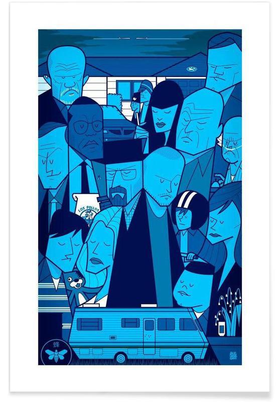 TV show, I'm the one who knocks - blue version Plakat