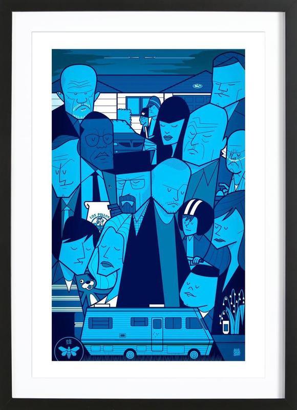 I'm the one who knocks - blue version Framed Print