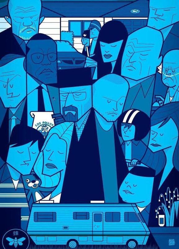 I'm the one who knocks - blue version -Leinwandbild