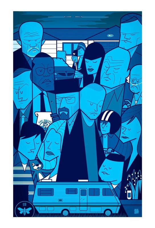 I'm the one who knocks - blue version Aluminium Print