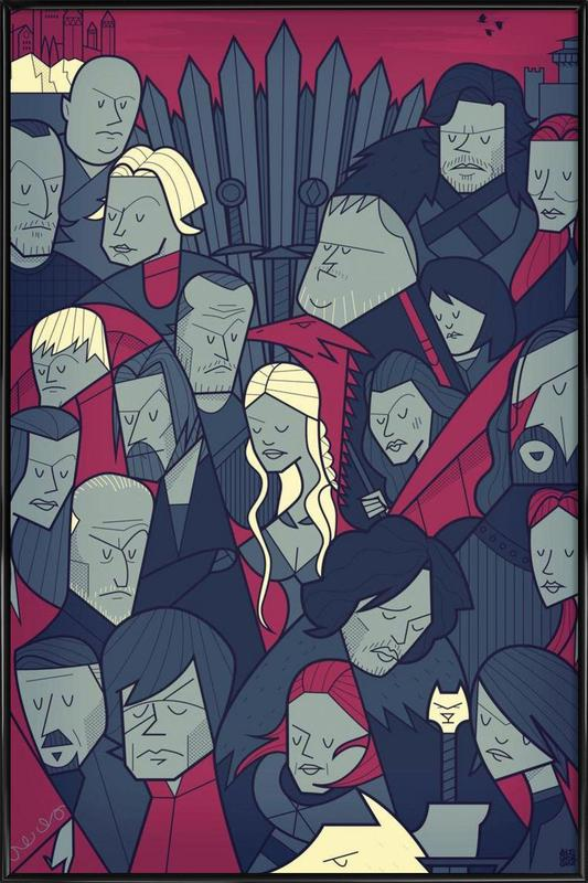 Winter is coming ingelijste poster