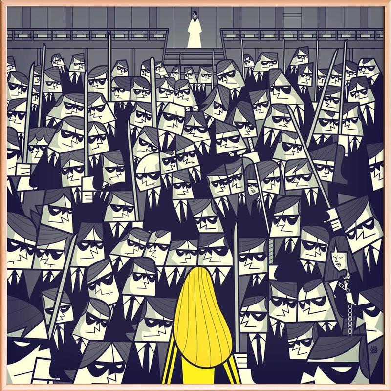 CRAZY88 -Poster im Alurahmen