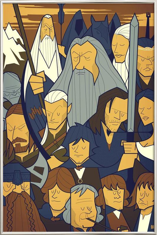 LORD OF THE RINGS 1 -Poster im Alurahmen
