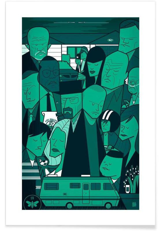 Séries TV, I'm the one who knocks - green version affiche