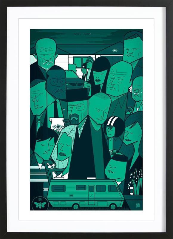 I'm the one who knocks - green version Framed Print