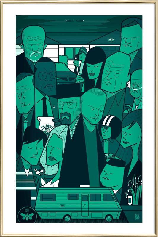 I'm the one who knocks - green version -Poster im Alurahmen